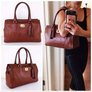 Coach Legacy Saddle Brown Leather Chelsea Satchel